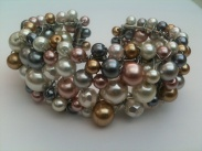 A sculpture of wire and glass pearls became one of my signature bracelets.