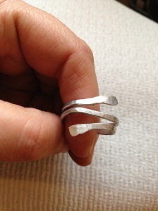 Hammered Silver Wrap Ring
