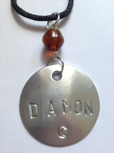 Damon Stamped Necklace