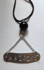 Impala License Plate Stamped Necklace