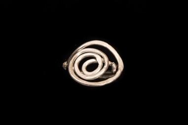 Goddess Spiral Silver Ring