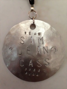 Team Free Will - Sam Dean Cass Hand Forged, Hammered and Stamped Necklace
