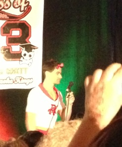 Matt Cohen channeling his inner cheerleader