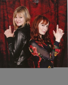 Kyra with some chick named Felicia Day...seems a bit familiar to me...