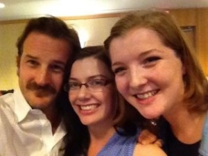 My roomies and now great friends, Kate and Bella.  Oh, and some guy named Richard Speight Jr.