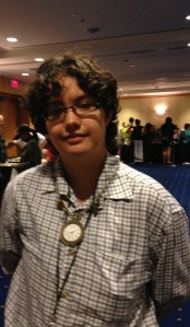 Wylliam wearing my steampunk necklace