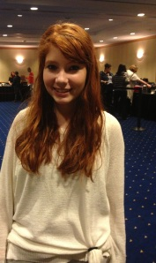 This young lady could pass for Felicia Day's little sister!