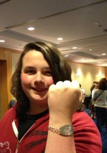 Max wearing my Moose bracelet