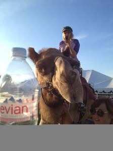 That's Kyra. On a camel.  In CANADA.  I'm not sure which is funnier - that Misha Collins had this on the list or that Kyra FOUND one - Kudos, girl!