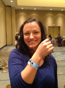 Tatjana (if I got your name wrong, please let me know!) - she had me make a bracelet with a G Clef and blue roses - I love it!