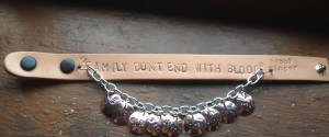 Family don't end with blood bracelet - Sam, Dean, Cas, Bobby, Ellen, Jo, Ash, Rufus and Garth