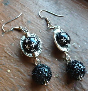 Earrings closeup
