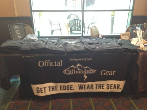 The Clifhanger table - GET THE GEAR