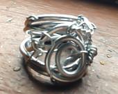 Silver Goddess Spiral Ring