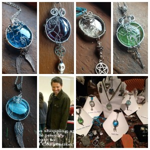My Supernatural-Inspired Necklace series!  Available at my marked down convention price and FREE US SHIPPING!