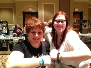 Adina and Ally! Wonder Twin Powers ACTIVATE!  Form of...TWO AWESOME SPN bracelets!