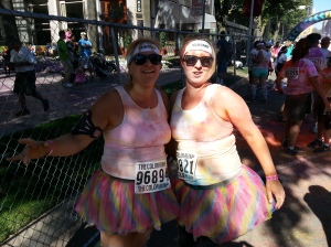 Ana Marie is also an avid runner - here she is at the Color Run - a well-known 5K - one of the many things I admire about her!