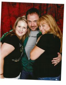 Ana Marie and Erin with Hell royalty - maybe! YOU decide at VegasCon!