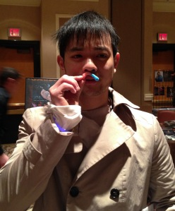 Osric Chau doin' the 'stache