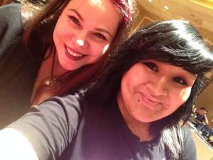 Brittany and me doing a selfie in VegasCon