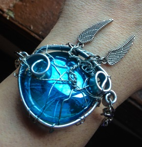 The companion bracelet to my original necklace design: Castiel's Grace!