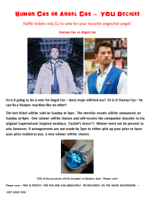 A chance to win my bracelet, vote for your fave version of Cas, and donate to Random Acts of Kindness!