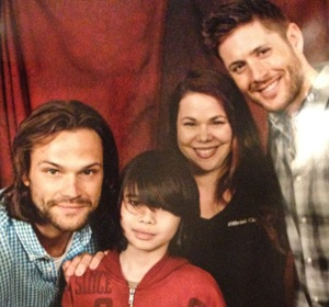 Jared and Jensen got Jade to smile!
