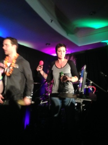 The beautiful Kim Rhodes rocking out on stage!
