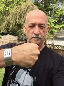 Mitch Kosterman has his Always Keep Fighting cuff - and he also helped me understand I am Stigma Free