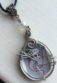 Sock Monkey Necklace